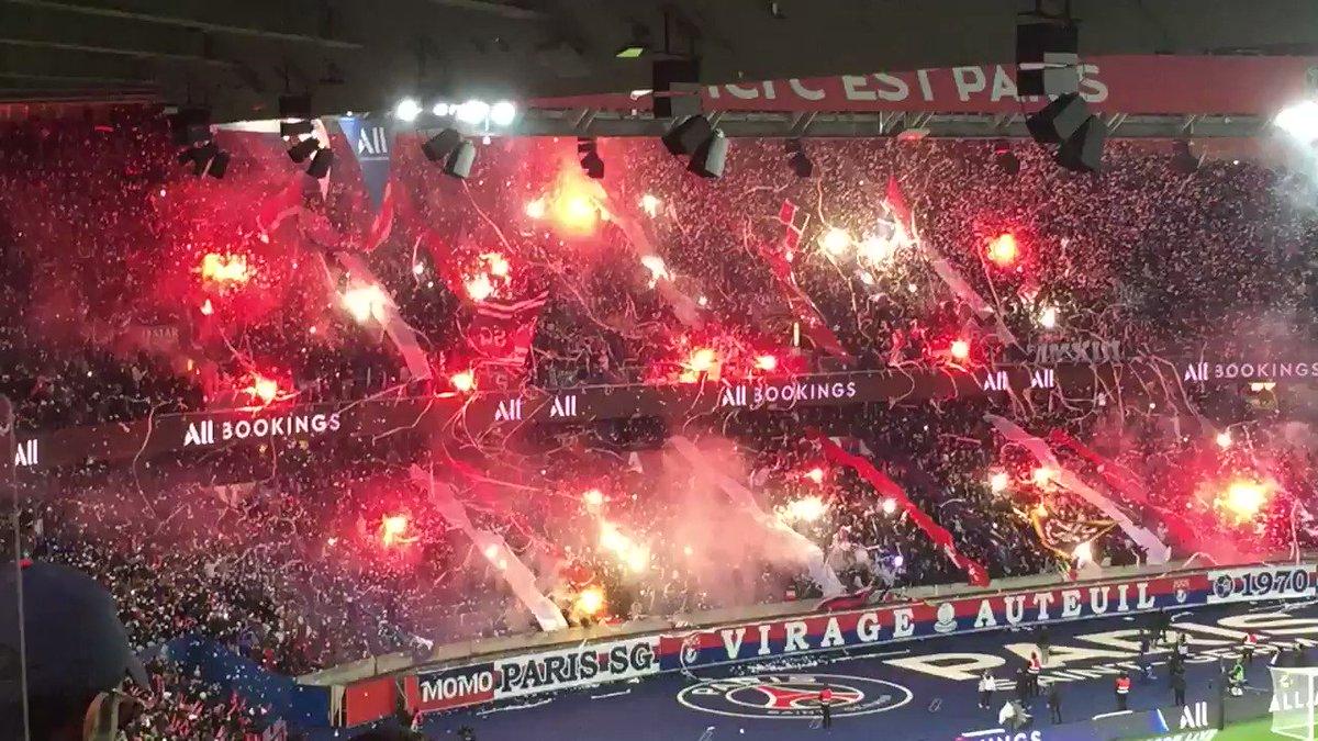 Magnificoooooo 🔥🔥🔴🔵 @Co_Ultras_Paris #PSGOL