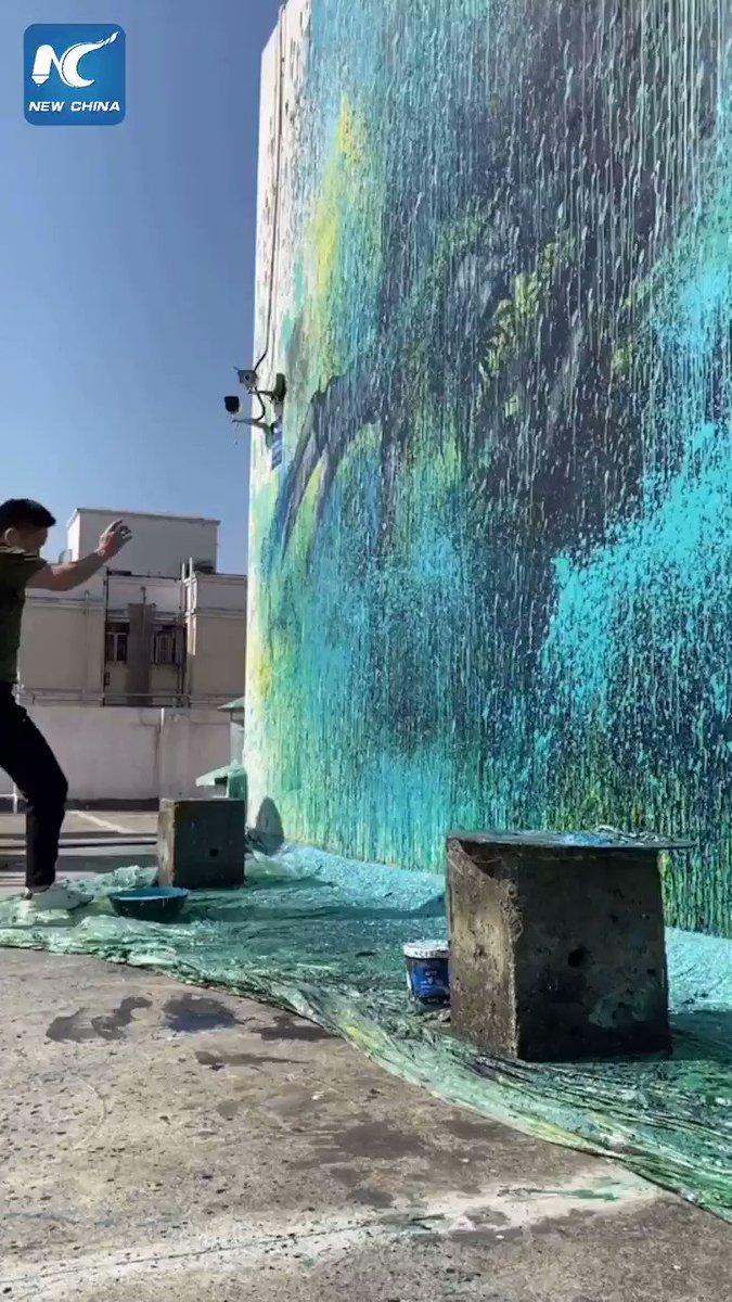 Artists turn walls into artworks