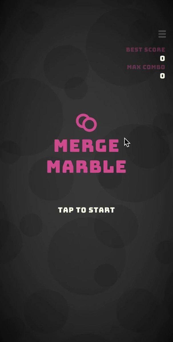 新作をリリースしました!Merge Marble(マージマーブル)開発日数は9日!※動画は音が出ます[Android版][iOS版]