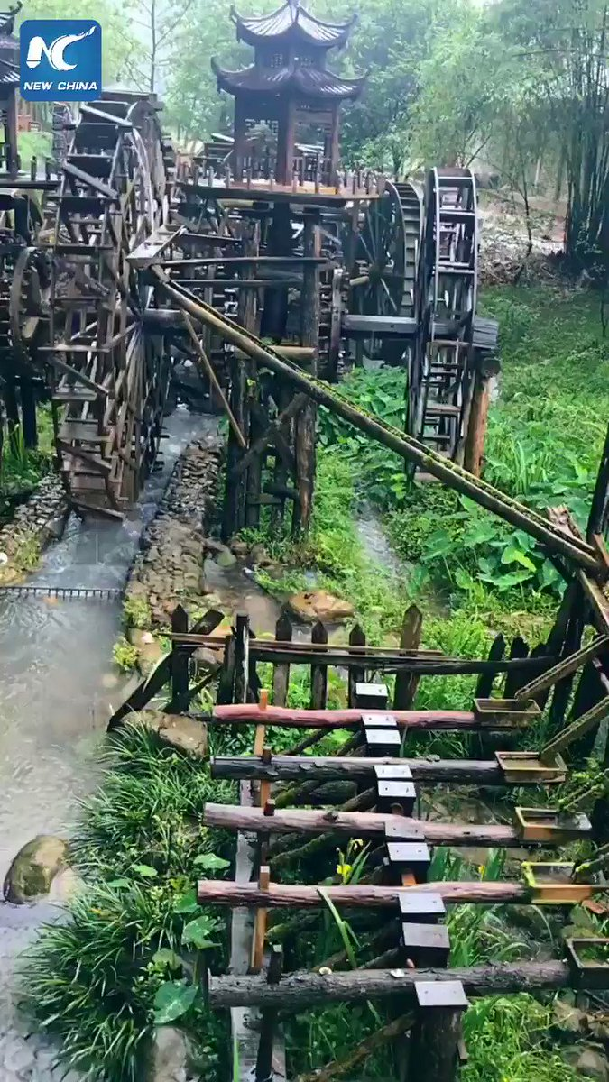 Amazing water wheels in China