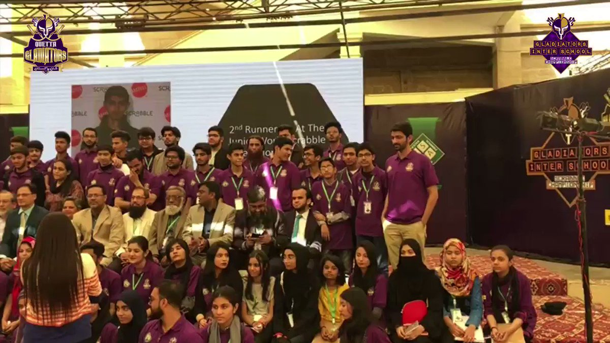 @SarfarazA_54 @nadeem_omar57 @pakscrabble #GladiatorsScrabbleChampionship  🙌 A special mention to @pakscrabble for their tireless effort to conduct this amazing competition with @TeamQuetta   @SarfarazA_54 | @nadeem_omar57   #WeTheGladiators #PurpleForce #ShaanePakistan https://t.co/aqUCzLz8ZH