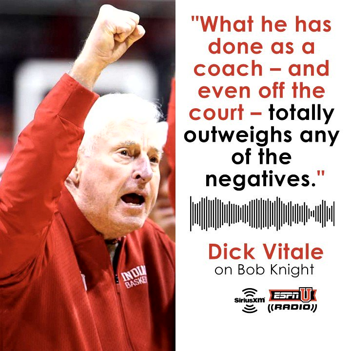 .@DickieV explained why Bob Knight deserves positive recognition when he joined @MarkPacker.