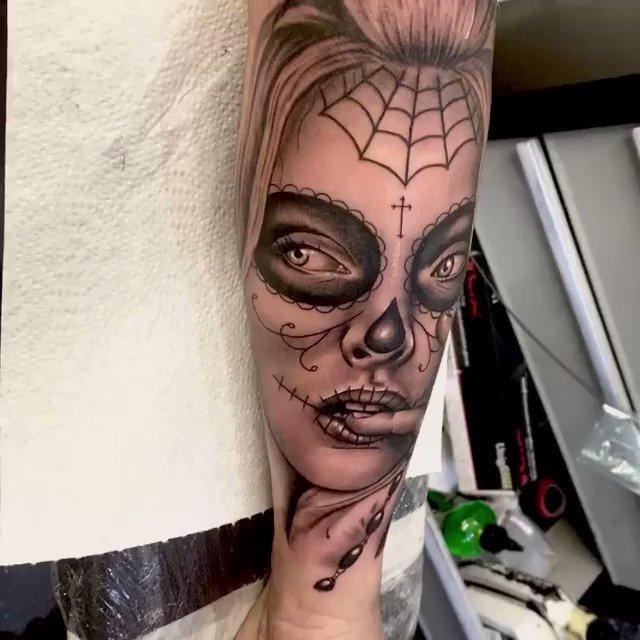 Day of the Dead girl piece from Lewis Greig from Brass Buddha Tattoos Supplied by #magnumtattoosupplies . . #uktattooist #uktta #finisheddesign #tattooapprentice #tattooist #tattooartist #tattoomag #worldoftattoo #tattoosofinsta  . . http://www.instagram.com/lewgreigtattoo/pic.twitter.com/XQdiuxrM4K