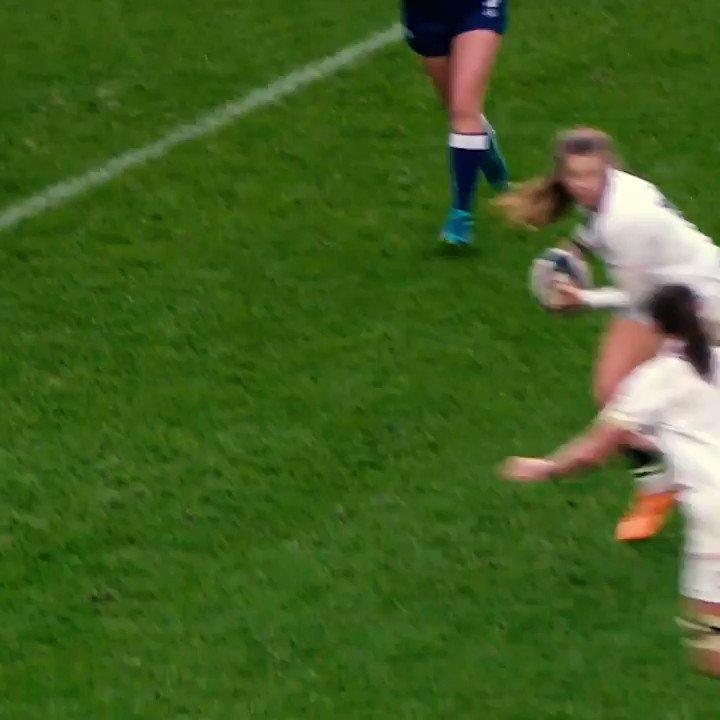 21 tries in 12 Tests... Take a bow @jessbreach 👏👏👏 #WearTheRose @O2sports