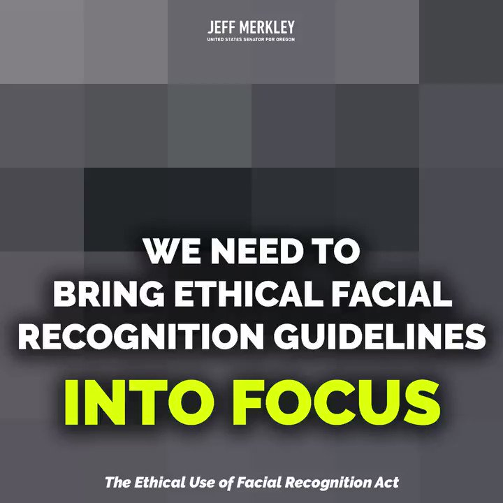 Facial recognition is both a powerful & problematic frontier—and one Congress needs to get ahead of NOW. @SenBooker & I are demanding a moratorium on federal use until we can be sure people of color won't be wrongfully targeted, & Americans' rights to privacy won't be abused.
