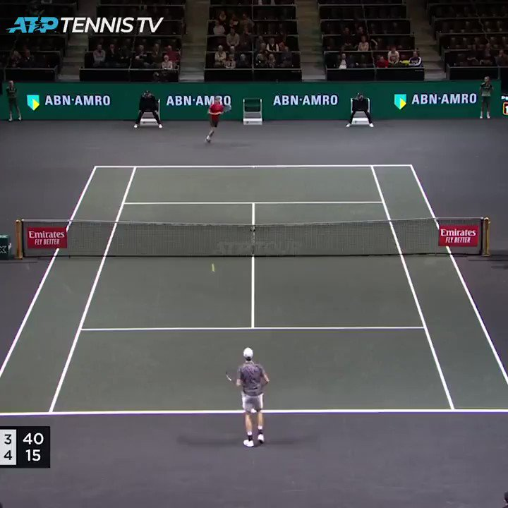 It's FEARLESS TENNIS from @janniksin 🙌  The #NextGenATP finals champion gains his first Top 10 win, defeating Goffin 7-6 7-5 in Rotterdam! #abnamrowtt https://t.co/noU3PxTNUo
