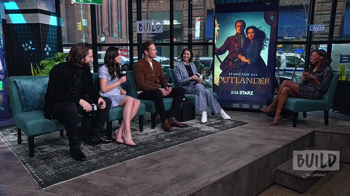 I always love my chats with the @Outlander_STARZ cast. WATCH @SamHeughan, @caitrionambalfe, @SkeltonSophie, and @RikRankin talk about love, romance and babies in season 5. WATCH:   @BUILDseriesNYC