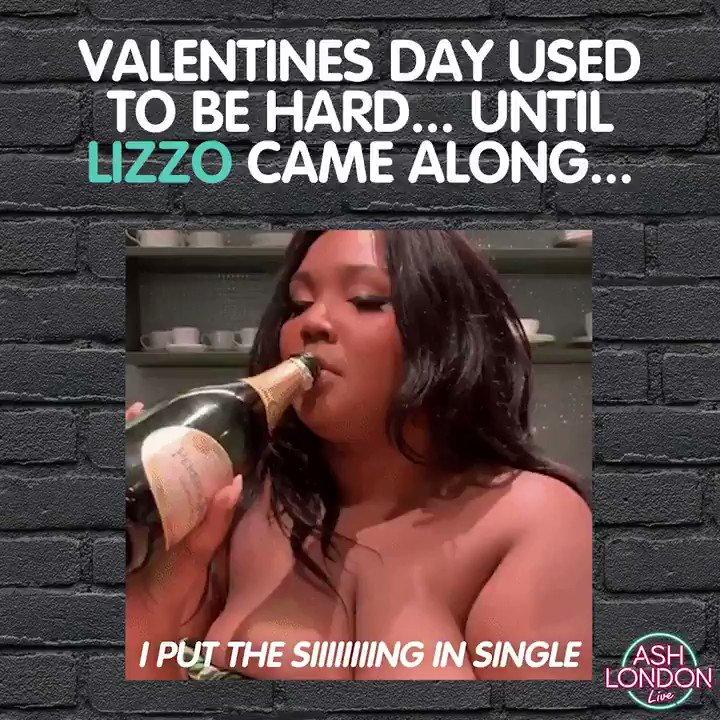 We be listening to @lizzo allllll day #ValentinesDay2020