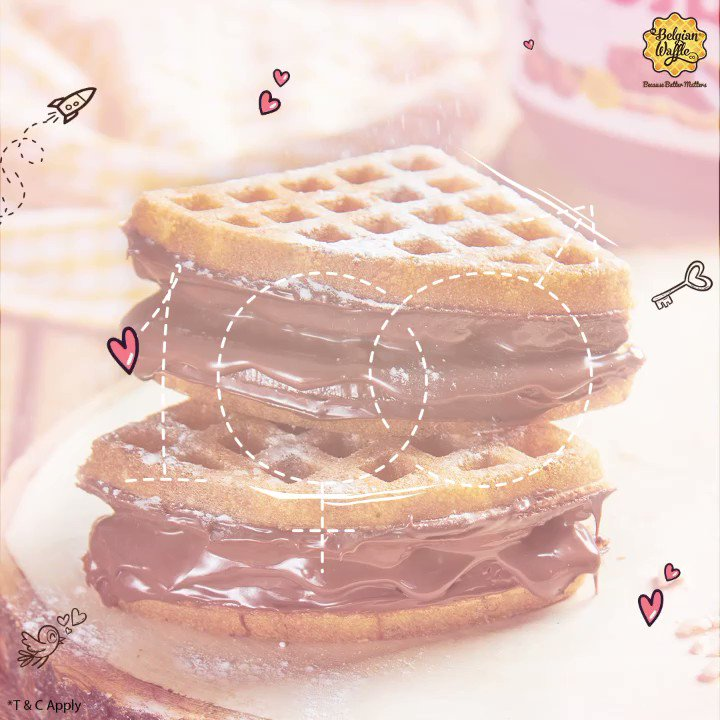 We're #Waffling in #Love, and so should you! Here's sprinkling  to you with our #ValentinesDay offer  T&C Apply* - Offer valid only in stores on 14th February only - Offer not valid on #MiniPancakes, #Beverages, Ice cream Waff-wich, #Sundaes and #WaffleCakespic.twitter.com/u5I1lw1b5x
