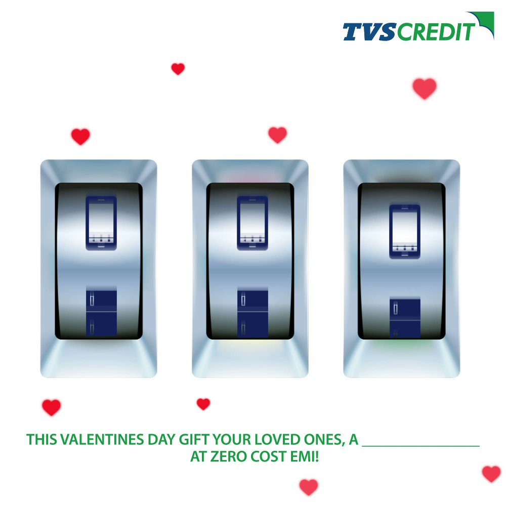 Take a screenshot of the consumer durable you want to gift your loved ones this Valentine's Day and post it in the comments section below to stand a chance to win amazing gift vouchers!   #TVSCredit #ContestAlert #ValentinesDay #Contest
