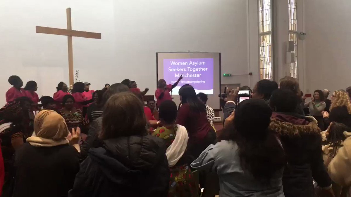 The whole room is dancing! What an inspiring way to start the afternoon session #sistersnotstrangers