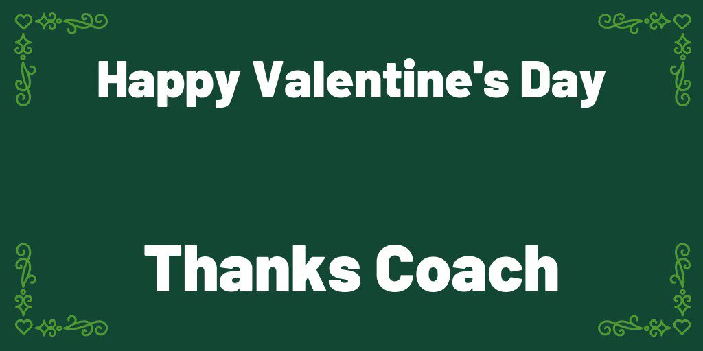 Image for the Tweet beginning: Coaches are our favourite Valentine's.  #HappyValentinesDay #ThanksCoach