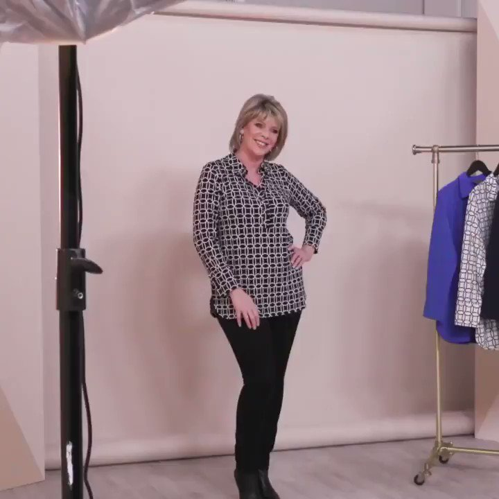 Launching tonight my New Jersey shirt exclusive @qvcuk THREE prints, THREE colours. Stylish & comfy. Hope you like it! - On the website now! Link in bio! 💖