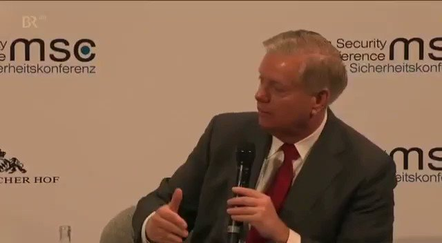 """Watch: Response by Indian EAM @DrSJaishankar to US Senator @LindseyGrahamSC as he tries to rake Kashmir at #MSC2020; EAM's response, """"Dont worry senator. One democracy will settle it, and you know which one!"""""""
