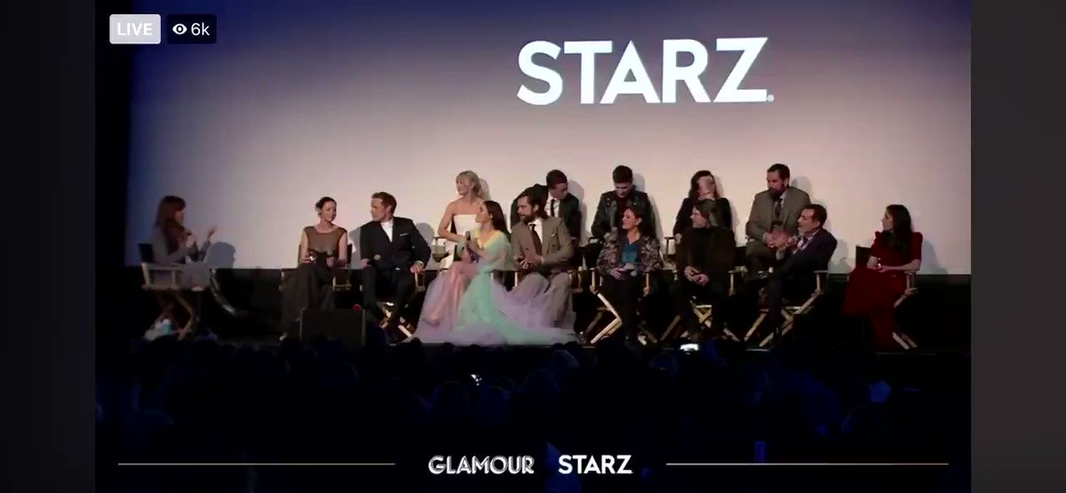 @Outlander_STARZ @caitrionambalfe @SamHeughan @RikRankin @SkeltonSophie @mariadkennedy @LlaurenLyle @RonDMoore @TallShipProds @Writer_DG Love this cast!! Watching the panel live stream was amazing 😍🥃