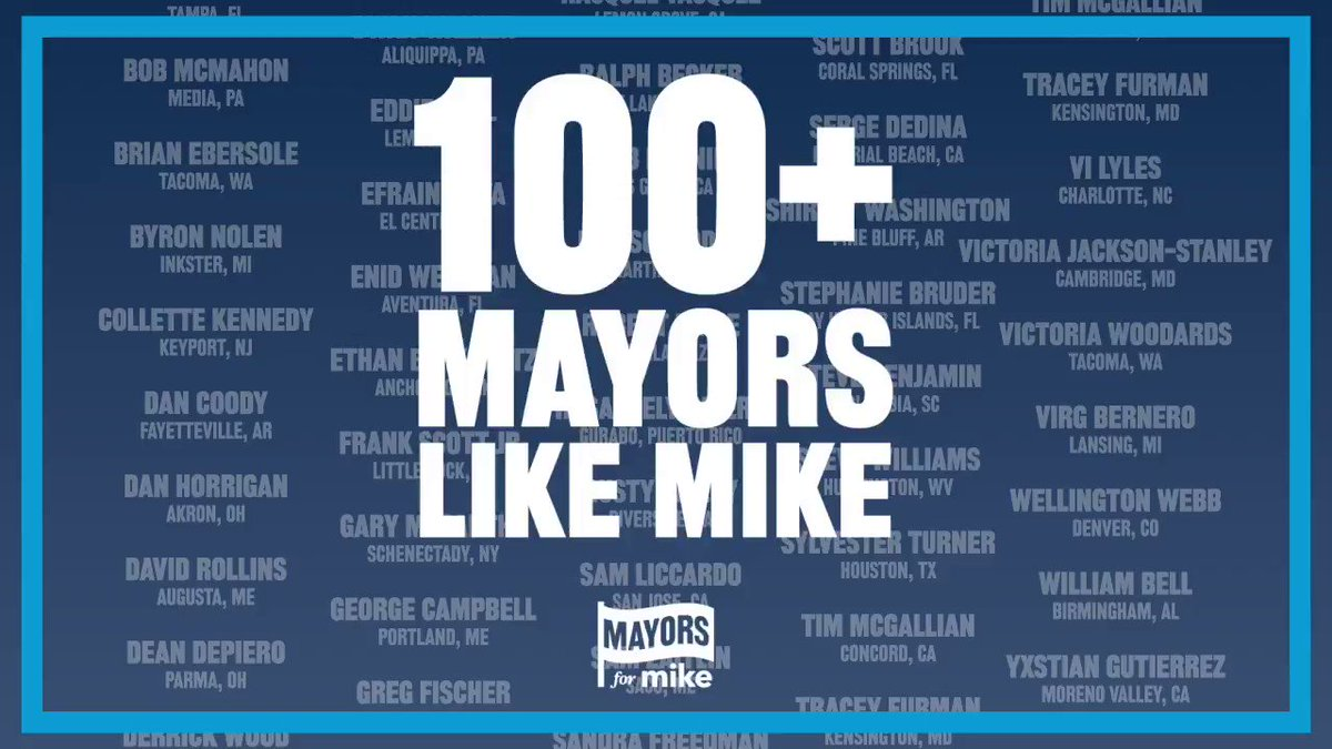 I'm honored to have the support of over 100 current and former outstanding mayors from all over the country.  Mayors are empowered to drive change at the local level, and as president, I will work closely with them to reunite and rebuild America.