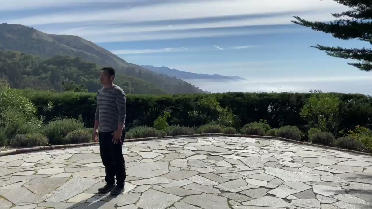 Car supercharging at Big Sur. In the meantime....supercharging myself. AirPods intact.