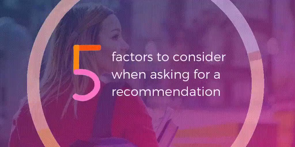 Image for the Tweet beginning: Recommendation letter tips:  - Ask someone
