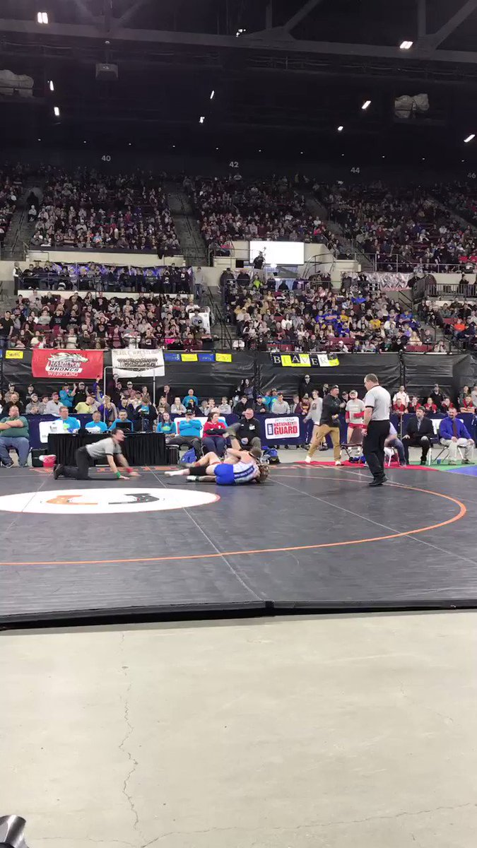 Boom! Orion Thivierge wins the 160 pound state title with a third period pin #mtscorespic.twitter.com/1ztr6zIiiH