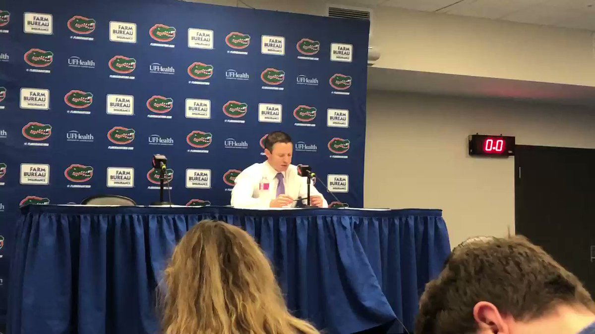 White speaks about the importance of his freshmen continuing to improve. #Gators