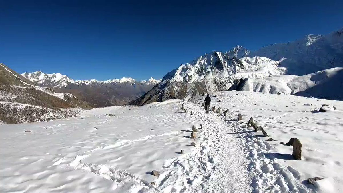 Winter trekking is new cool.  #wintertrek #nepal #visitnepal2020 #explorenepal #discovernepal #marvelsofnepal #traveladventure #thirdrockadventures #travelwithtra #thinkwithtra #transformwithtra