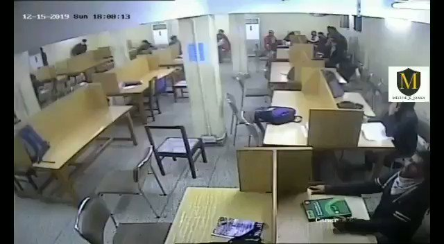 See 45 sec of Jamia footage. Just see how rioters are hiding in the library transform into peaceful students as soon as police arrives with big danda. Suddenly open books and forget to remove mask! Jihadis and Media is showing just the second part. RT please