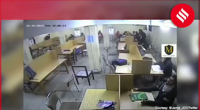 New CCTV video shows Delhi Police assaulting students inside Jamia library