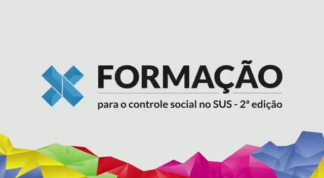 Participe da segunda edição do curso de formação para o controle social no SUS!  As oficinas ocorrerão de fevereiro de 2020 a julho de 2020. Conheça mais sobre o projeto e se inscreva:   #cns #sus #conselhonacionaldesaude