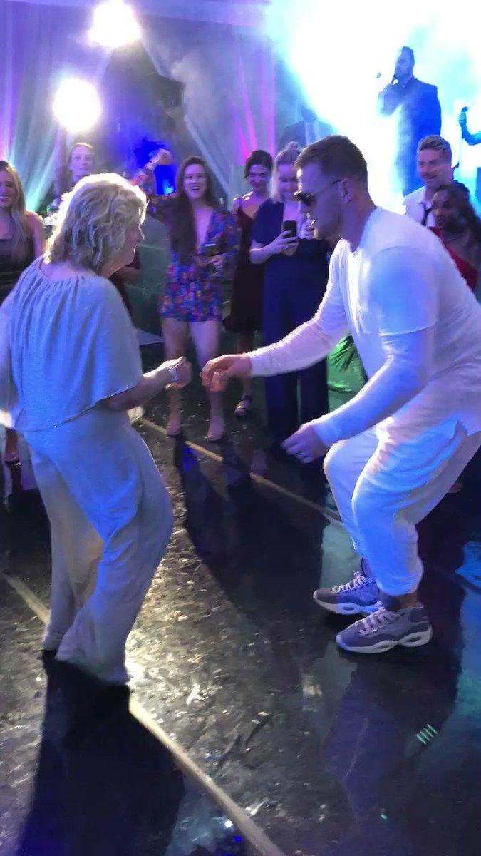 J.J. Watt's grandmother killin' it on the dance floor. Premium Sunday content 🕺💃(via @JJWatt)