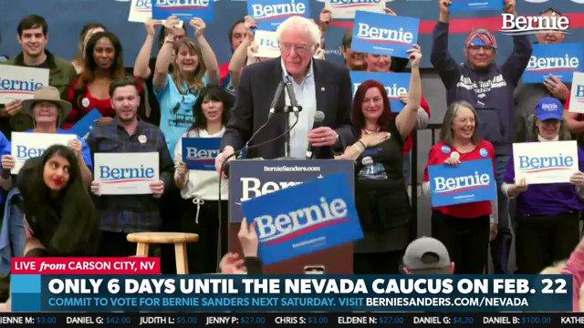 Bernie having nothing of that.