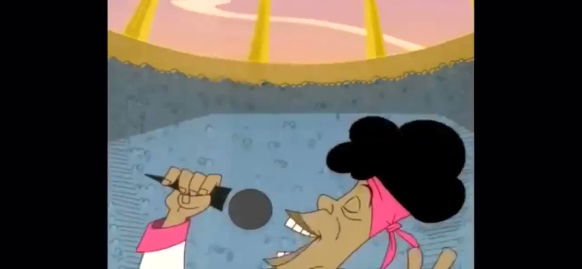 I LOVE Chaka Kahn...but she was lowkey actin like Bobby from Proud Family with that National Anthem 😂😂😂