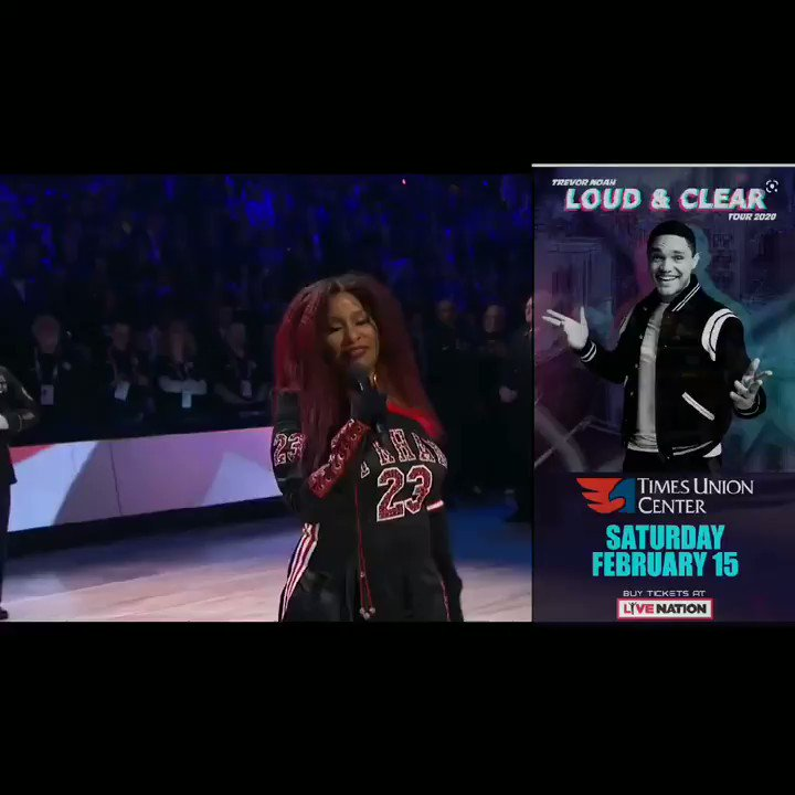 @Trevornoah was just talking about this last night. America is the only country that sing its Nation Anthem so many ways. This is Ridiculous! #chakakahn #allstargame2020 #NationalAnthem #LoudAndClearTour #NBAAllStar