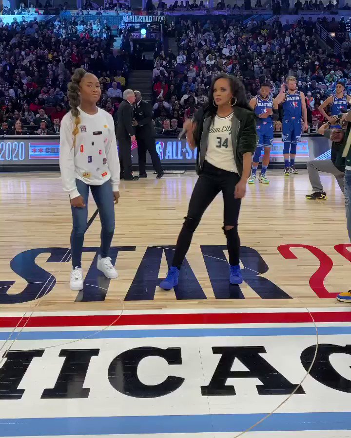 Jalaiah, creator of Renegade, performs at the NBA All-Star Game!