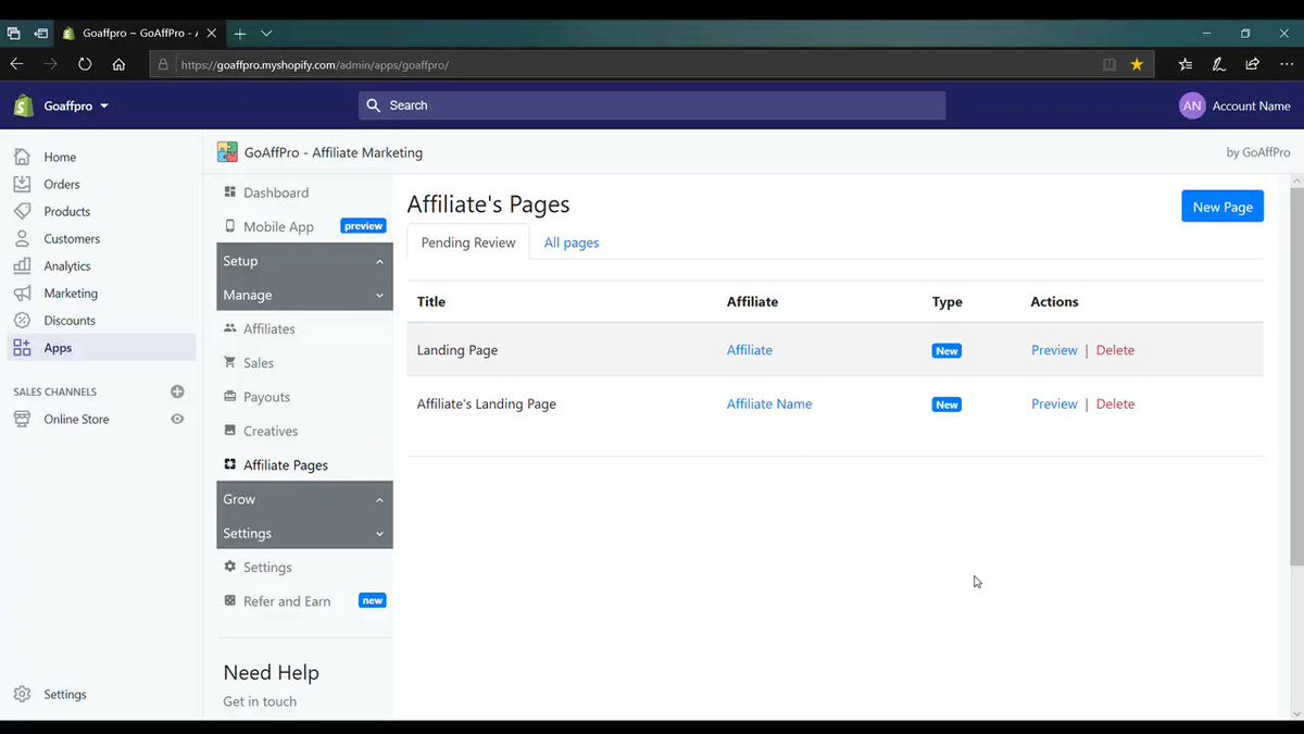 Checkout our video on how Affiliate Pages work in the GoAffPro app.   Visit our site: http://goaffpro.com  Checkout our blog: http://blog.goaffpro.com   #affiliate #marketing #promotions #affiliates #ecommerce #goaffpro #tutorial