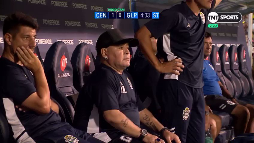 Crying at the technical staff covering Maradona from the cameras while he gets a small bag of coke.