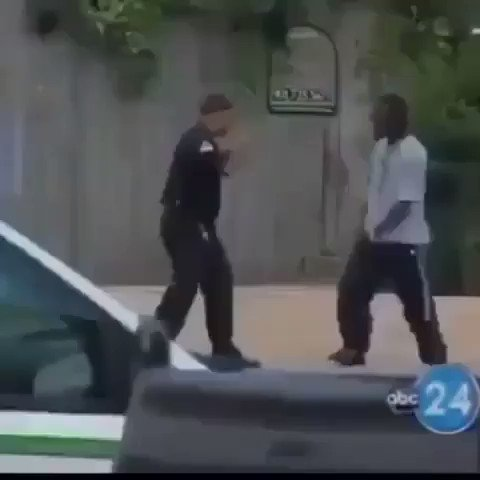 he picked a fight with the wrong cop