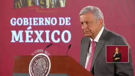 Image for the Tweet beginning: 🔴 El Presidente #AMLO lamento