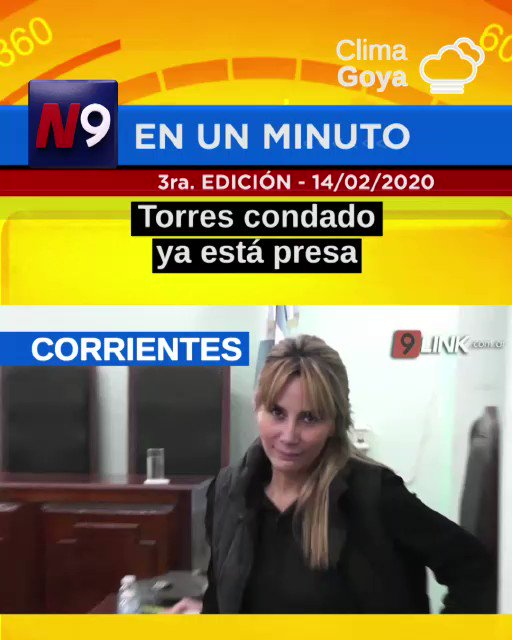 #FelizDiaDeLosEnamorados 💘  📍 Esto pasa #ahora en #chaco y #Corrientes  💁🏻 #NOTICIERO9   👮🏼♂️ #TorresCondadoPresa 👏🏻 #MultaASucios  😞 #CarnavalSuspendido ⚖️ #PreventivaParaRugbiers