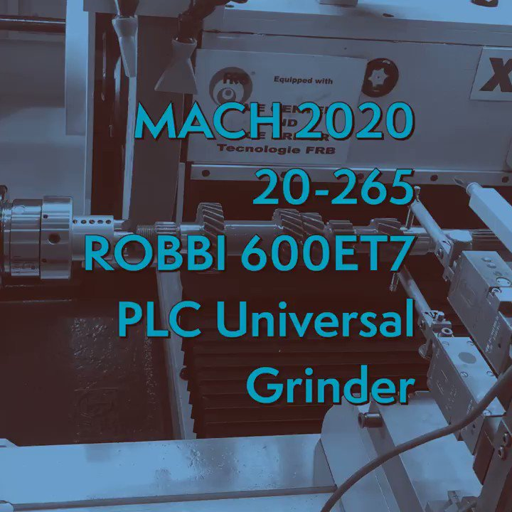 Nine weeks until @MACHexhibition and you get to see the exciting new #robbi #et7 #plc control universal grinder 👏👏👏 . Hall 20, stand 265 and you can beat the queues and register via #linkinbio #ukmfg #grinding #machinetools #precision #micron #semiauto #hmi