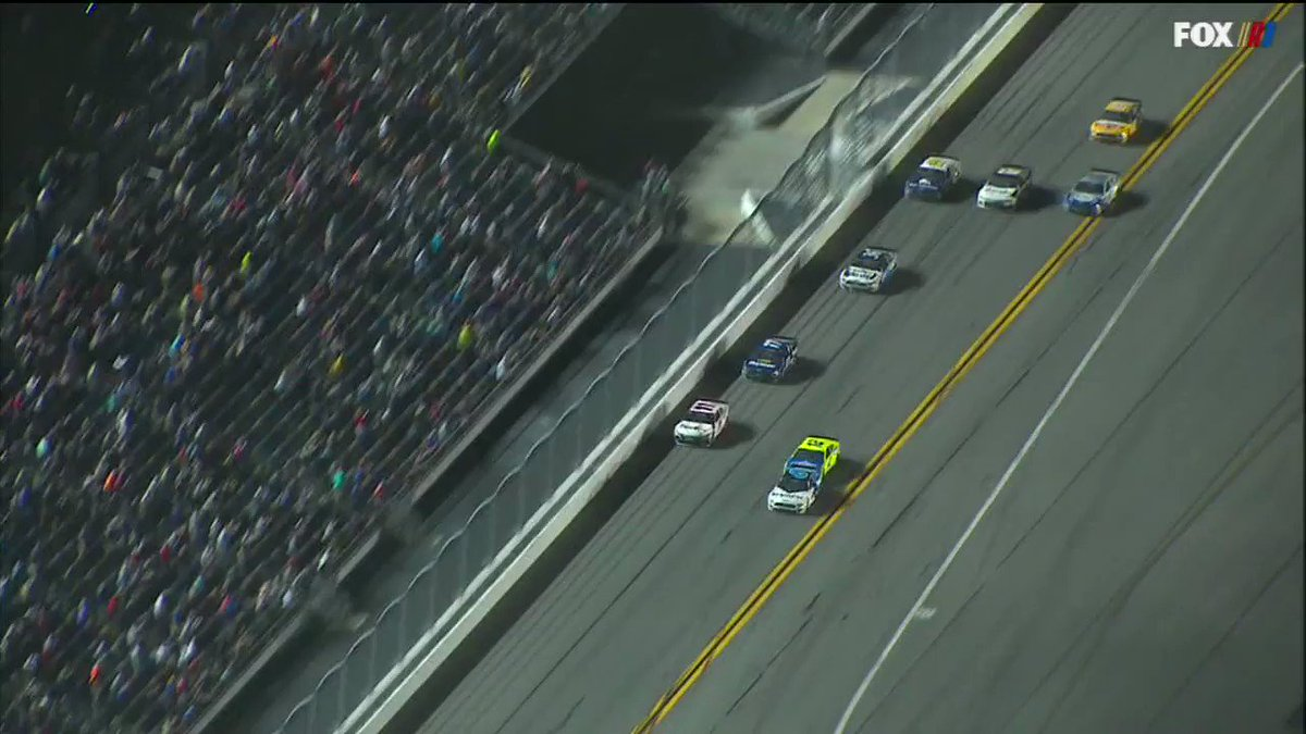 Scary finish at #Daytona500 Still no update in Victory Lane on Ryan Newman's health. Denny Hamlin wins the race but that's secondary right now. Lack of information is concerning many in Victory Lane