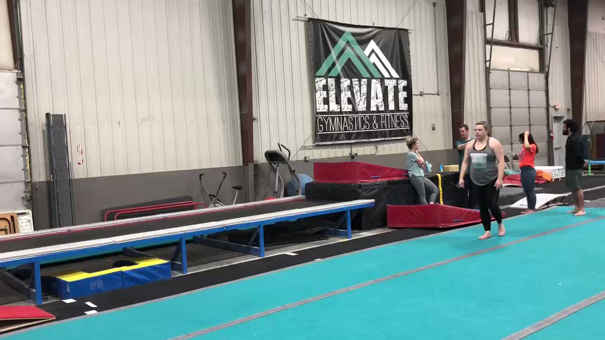 In the spirit of being freaking proud of myself and also knowing I'm about to be fat shamed on the Internet, I present to you me, a 38 year old mom and teacher, doing a thing I was afraid to do when I was a 14 year old gymnast. Next week: add a full (and straighten my legs)