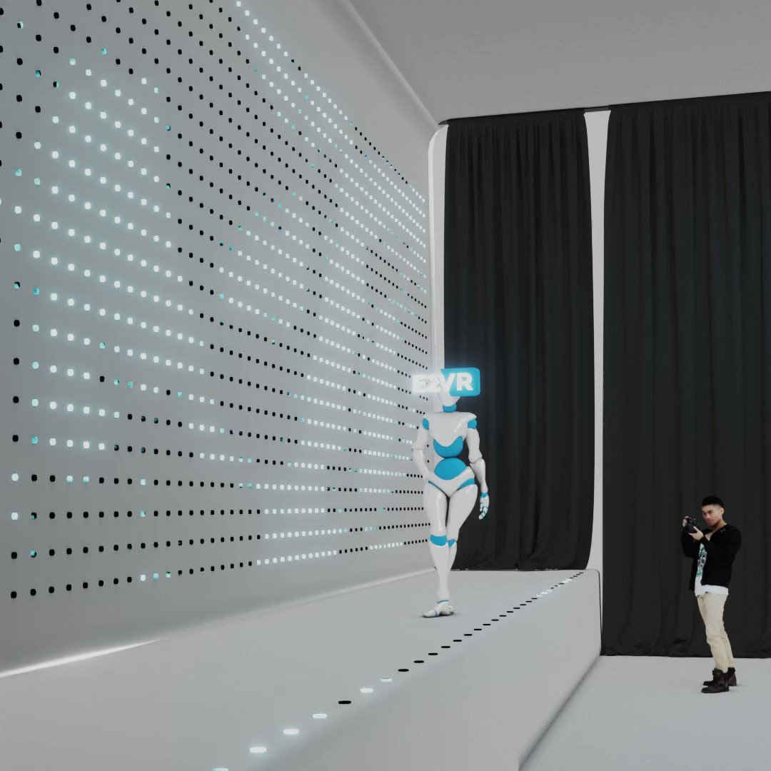Dans la créa de la semaine, E2VR s'invite à la #MilanFashionWeek  🌟 #VR #AugmentedReality #3dart #VirtualReality