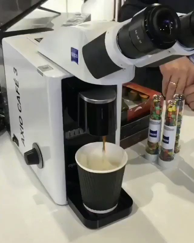 When a scientist changes his discipline to start a cafeteria.  Microscopic coffee machine.  This is called love of science amd specially biology  #fun #TuesdayThoughts #biology #Coffee #environment #businesstravel #idea #technology #techpic.twitter.com/bxnYSV9kTA