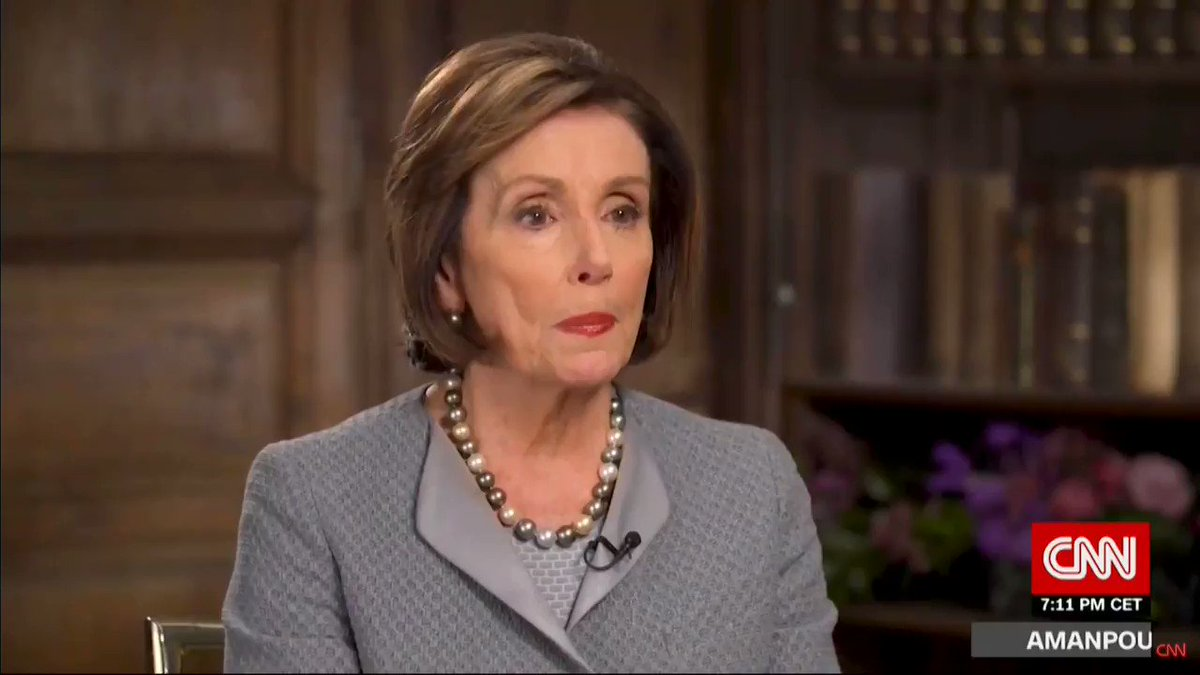 Nancy Pelosi says she knowingly and purposely ripped the State of the Union speech page with the soldier's homecoming https://youtu.be/Qdqk7K_9b5c
