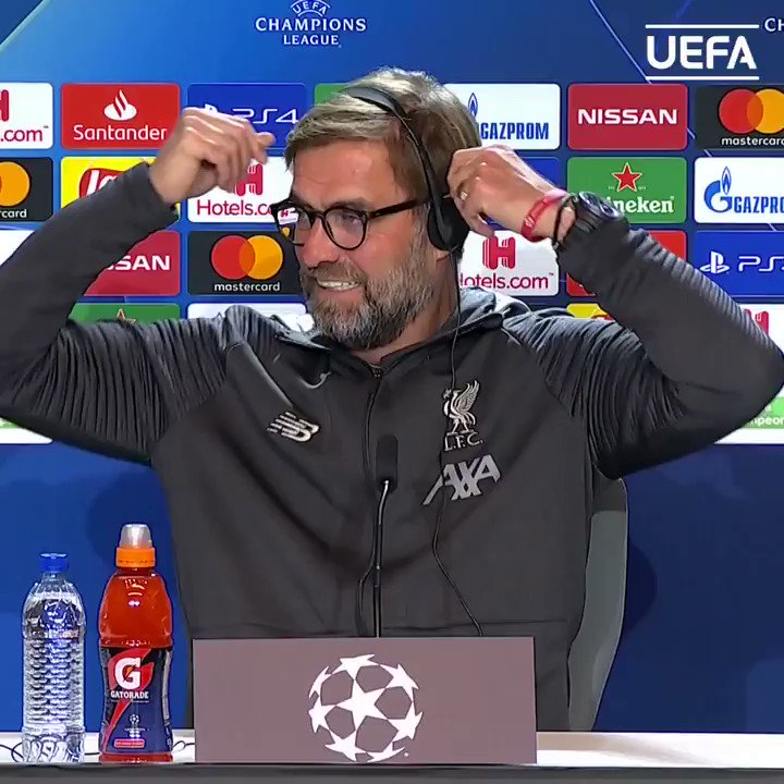 """Klopp: I'm the """"kindergarten cop"""" compared to Diego Simeone! 🤣  #UCL"""