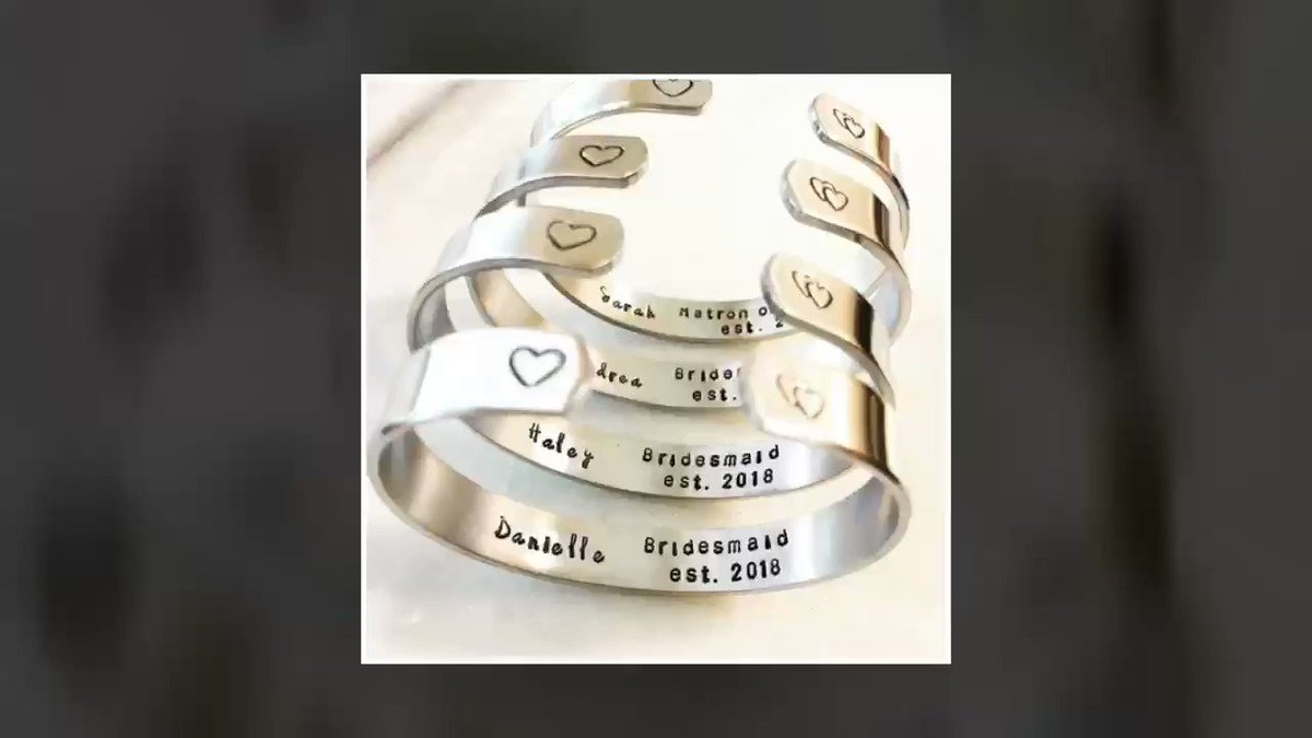 PersonalizedByHand🔥💕      #etsyRT #etsy #etsyretwt #groom #bride #wedding #bridesmaids #weddingparty #personalizedjewelry #engaged #momlife #family #anniversary #graduation #weddinginspiration #kiss #love #fashion #tuesdaythoughts #tuesdaymotivation