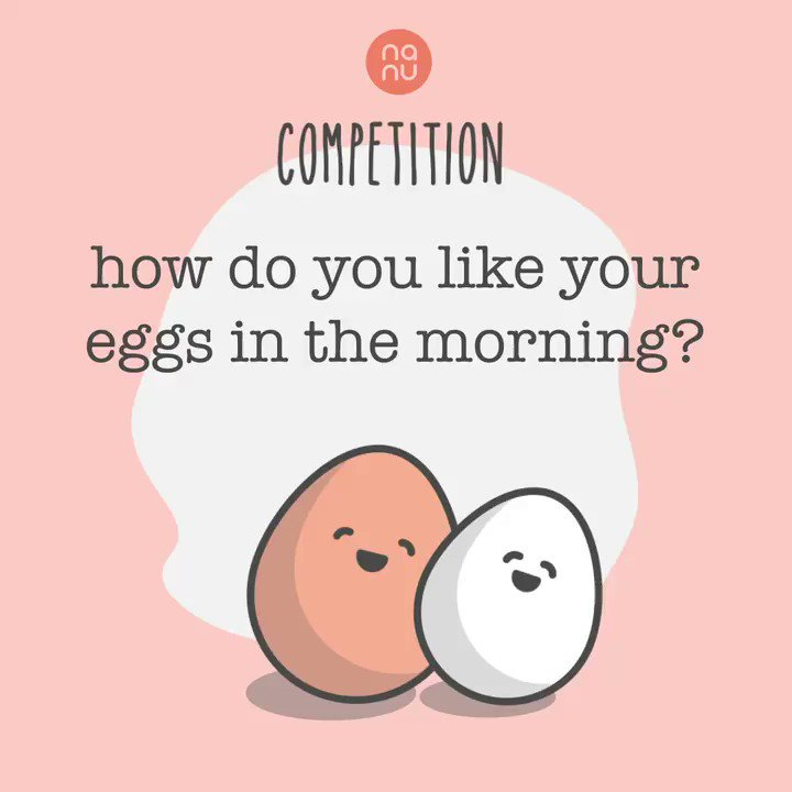 It's #Competition Time   How do you like your eggs in the morning?!   FOLLOW us, RT & REPLY with your answer, for your chance to #win a perfect nanu pillow!  #Giveaway #Contest #WinitWednesday  Competition ends - 11:59pm GMT on 24/02/20  T&C's - https://bit.ly/2SWWkAypic.twitter.com/caTMGoJJY4