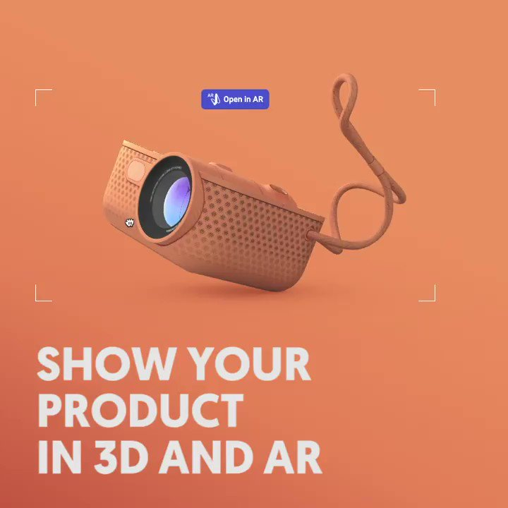 Enter the magic world of #WebAR today! 🙌 Showcase your 3D designs and products on your web and in #AugmentedReality. Try it out on our homepage:  #Webdesign