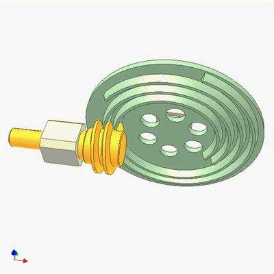 Archimedean Spiral Gear and Worm