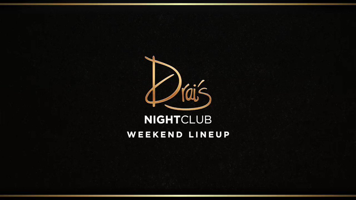 It's going to be another 🔥 weekend at Drai's! @MyFabolousLife @Migos @Dj_Franzen Get your tickets 👉 bit.ly/37AuYpb